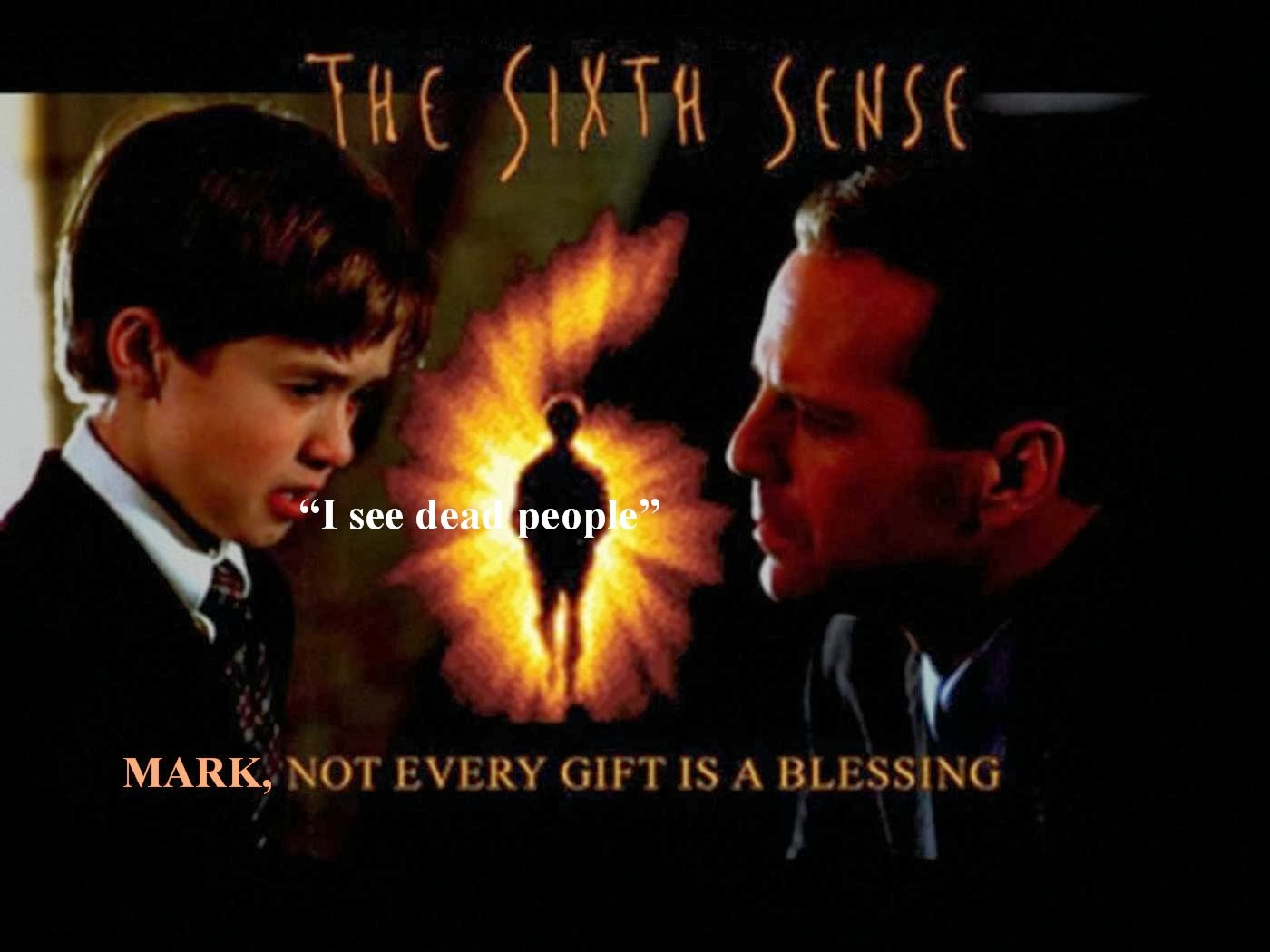sixth sense essay Symbolism and irony used in the sixth sense symbolism and irony can be used in any type of movie or story to help show the plot or theme of it symbolism can be used to show many feelings or just add to the theme of the story.