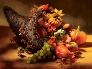 happy thanksgiving jesus is the horn of plenty the end time