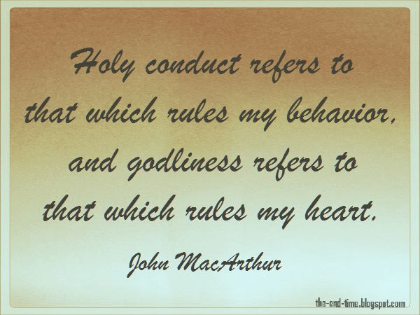 holiness and godliness