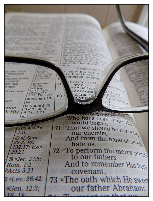 bible with glasses 2