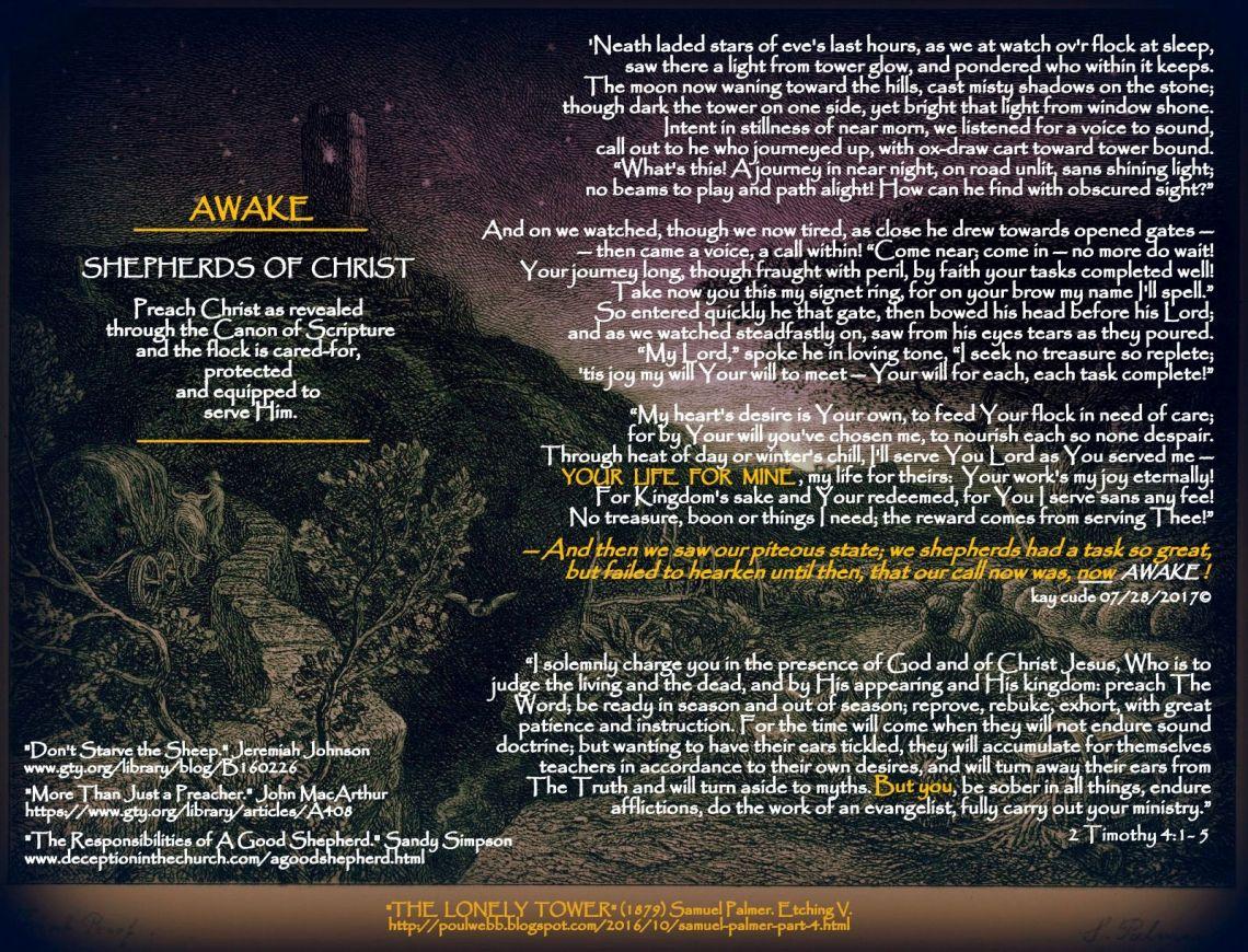 AWAKE, SHEPHERDS OF CHRIST