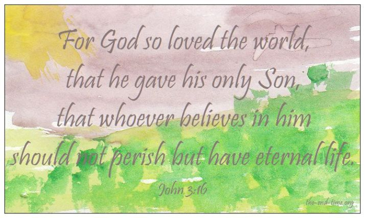 painting john 316 verse