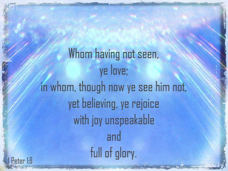 unspeakable glory