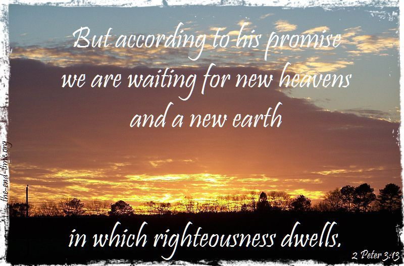 new heavens rigteousness dwells verse