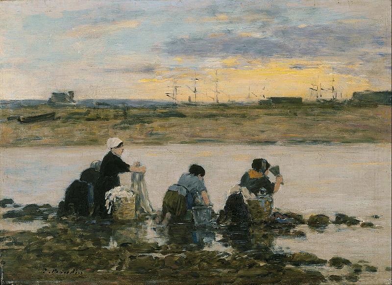 800px-Eugène_Boudin_-_Washerwomen_by_the_River_-_Google_Art_Project