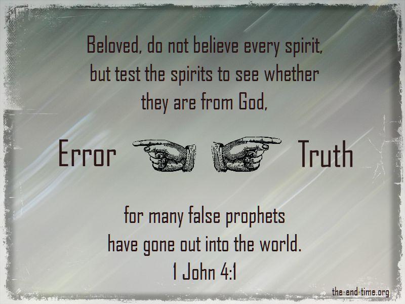 error and truth discernment