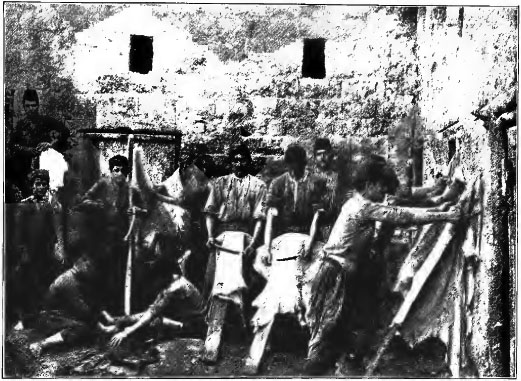 dressing hides in a syrian tannery