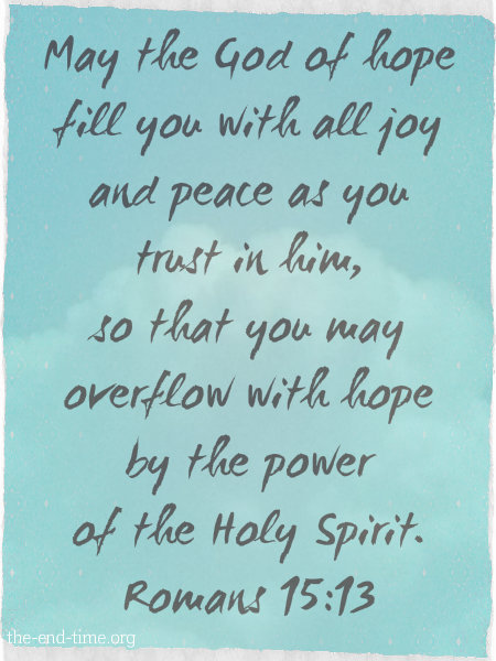 filled with hope verse