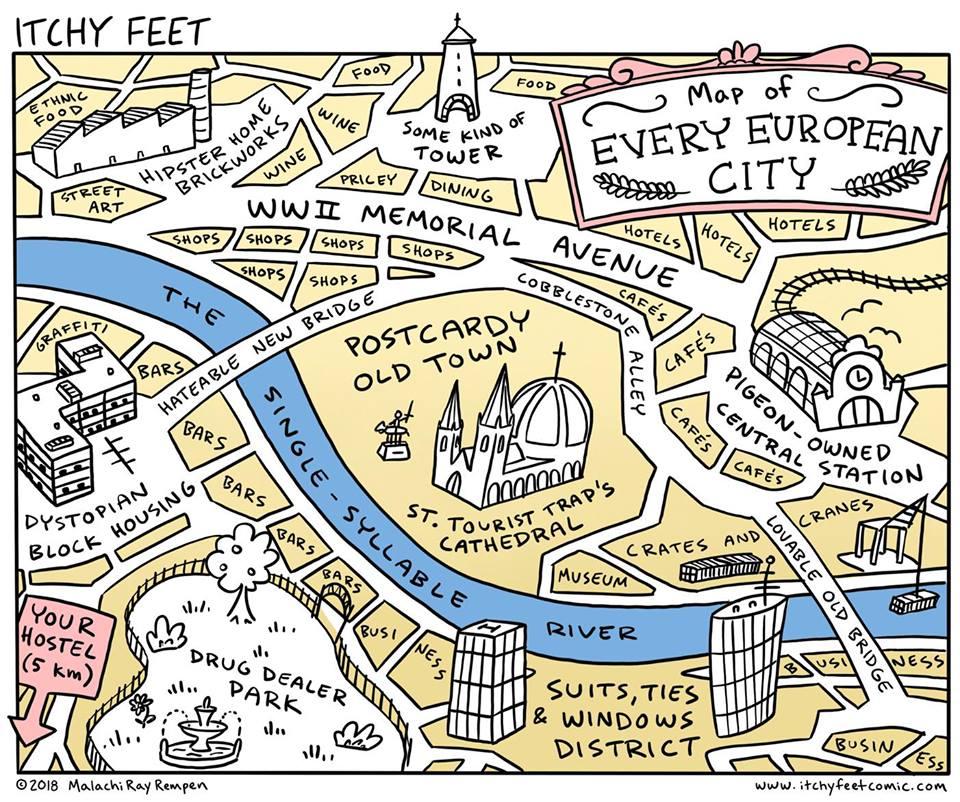 european city map