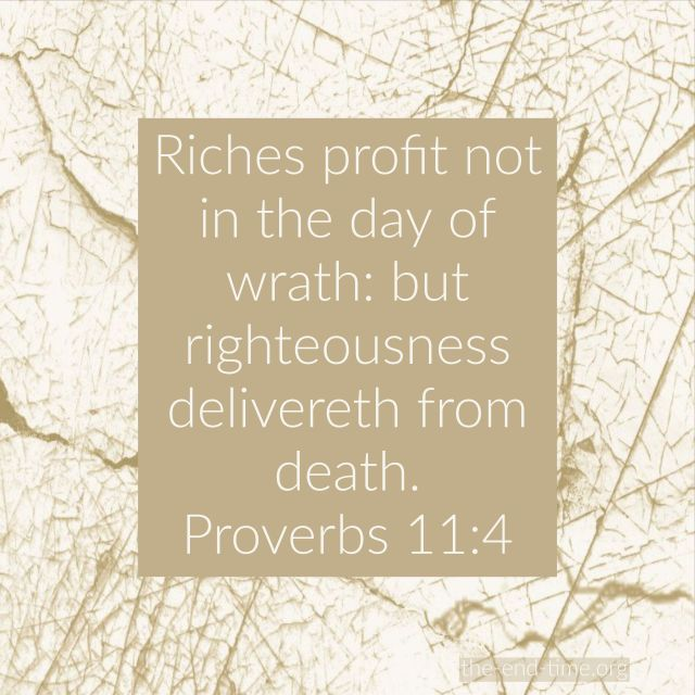 riches profit not verse