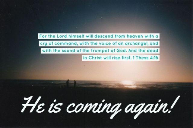 coming again verse