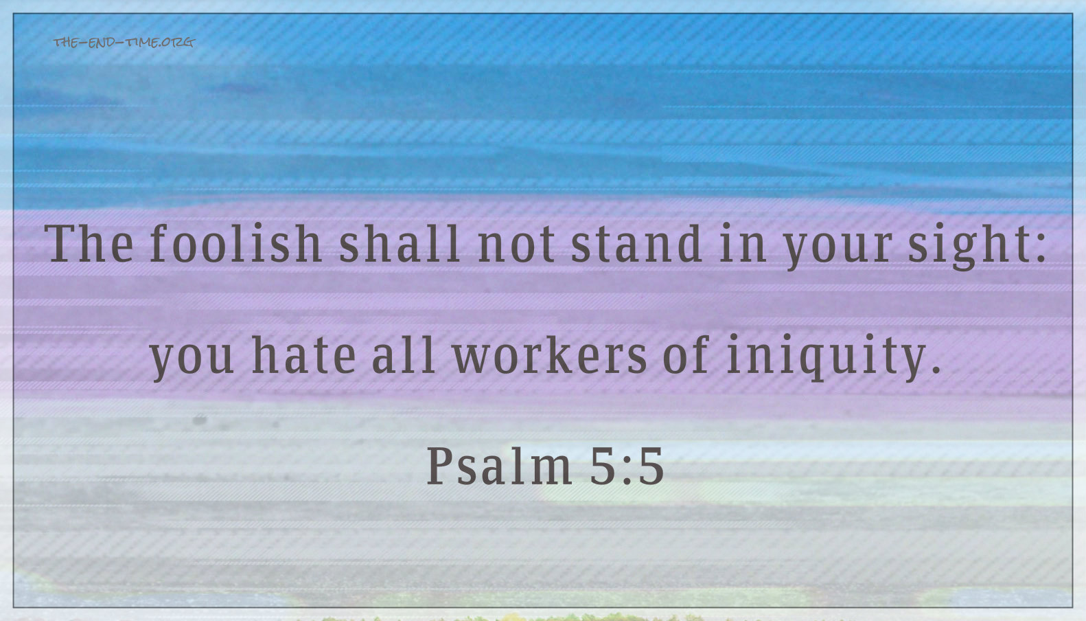 psalm 5 hate