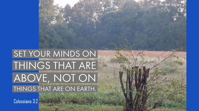 set your mind on heaven verse