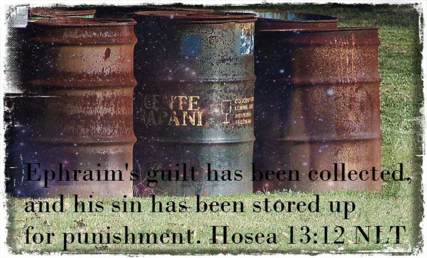 stored up sin verse
