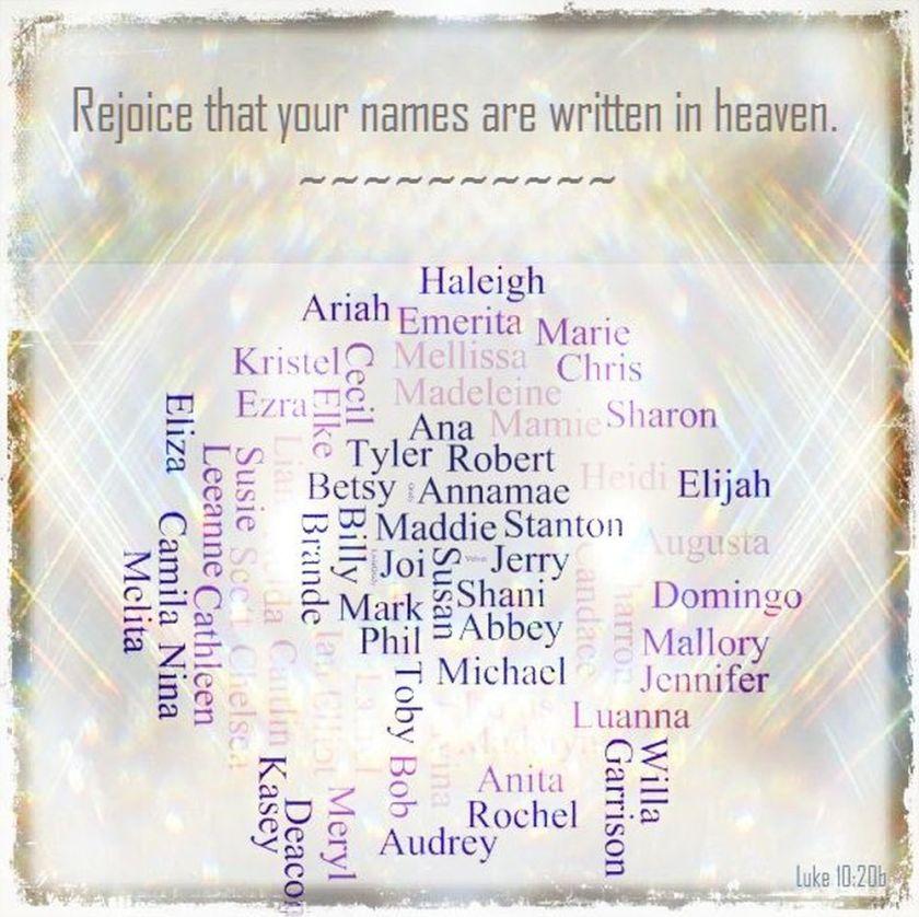 names in heaven verse