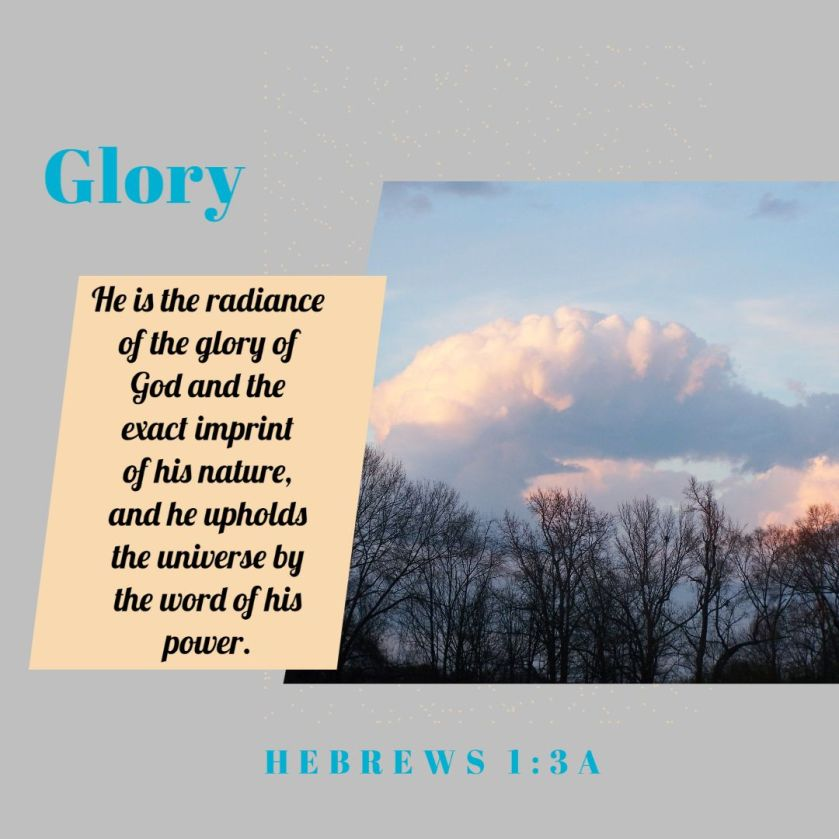 glory hebrews verse