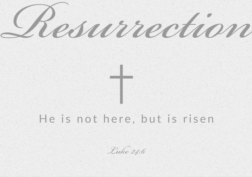 resurrection easter verse