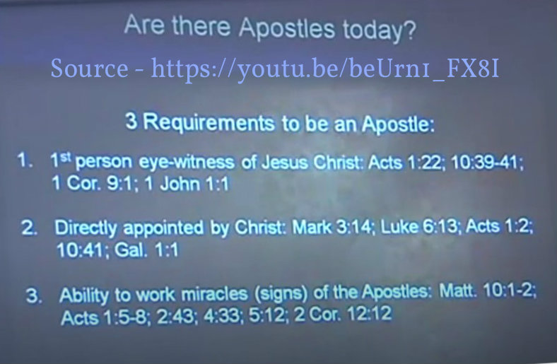 are there apostles today