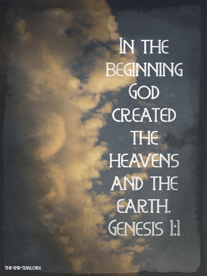 in the beginning verse